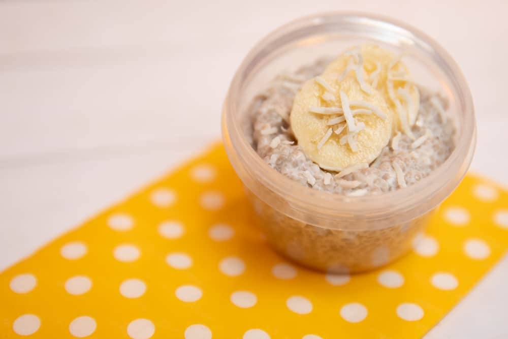 banana coconut chia pudding