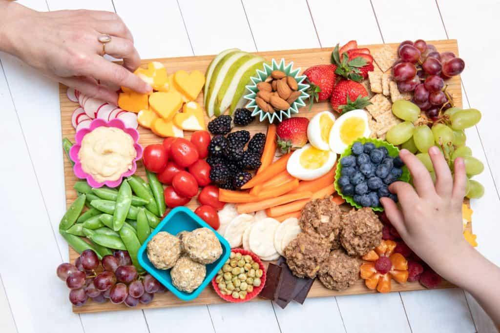 healthy snack board for kids