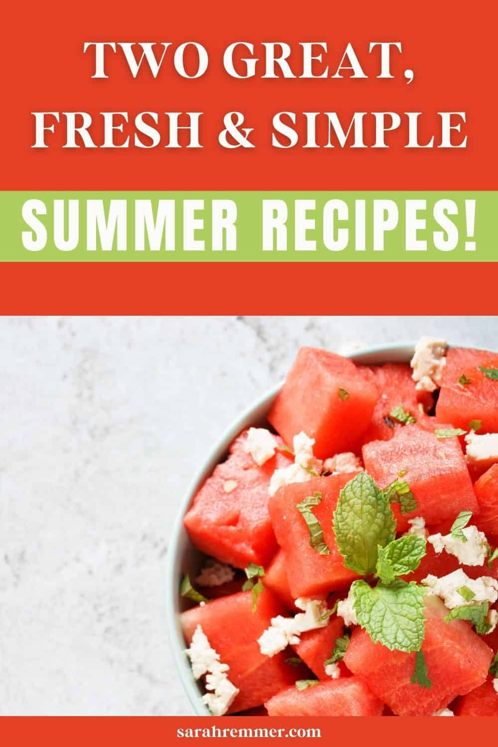 Looking for some simple summer recipes? I've got you covered with my curry chicken sandwiches and fresh watermelon, mint and feta salad! Both are perfect for summer barbeques or quick and easy lunches.