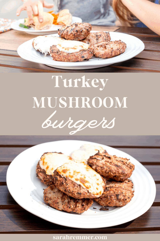 kids eating turkey mushroom burger recipe