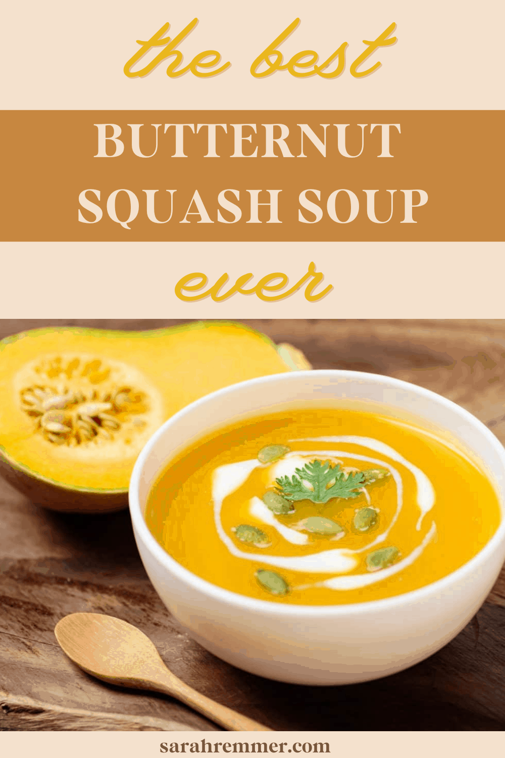 Soups are my favourite way to ensure that I get enough veggies throughout the winter months and this recipe is for the best butternut squash soup ever!