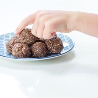 double chocolate chia protein bites