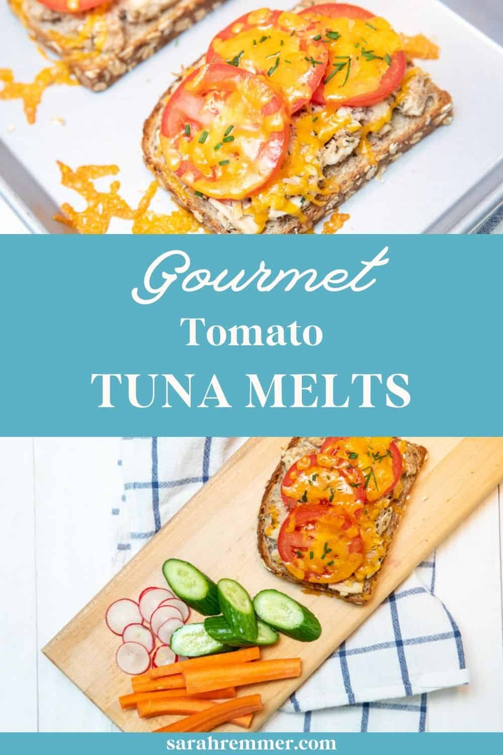 Tuna melts get a bad rep, but let me tell you...these gourmet tomato tuna melts are so delicious, easy and nutritious! My kids gobble them up every single time.