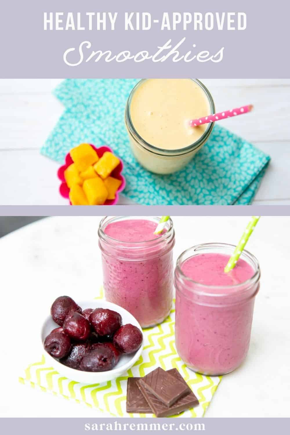 In our house, we are what you might say a little smoothie-obsessed! As a pediatric dietitian and busy mom of three kids, smoothies are a go-to because they are literally meals-in-a-jar. Here are my family's kid-approved smoothies that are also nutritious.