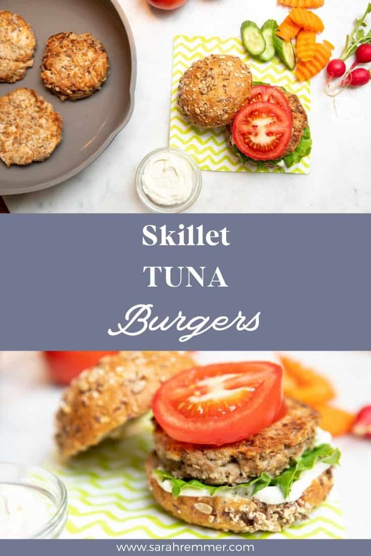 These quick tuna burgers are a great and easy way to switch up your burger options this summer. These burgers are made with canned tuna!