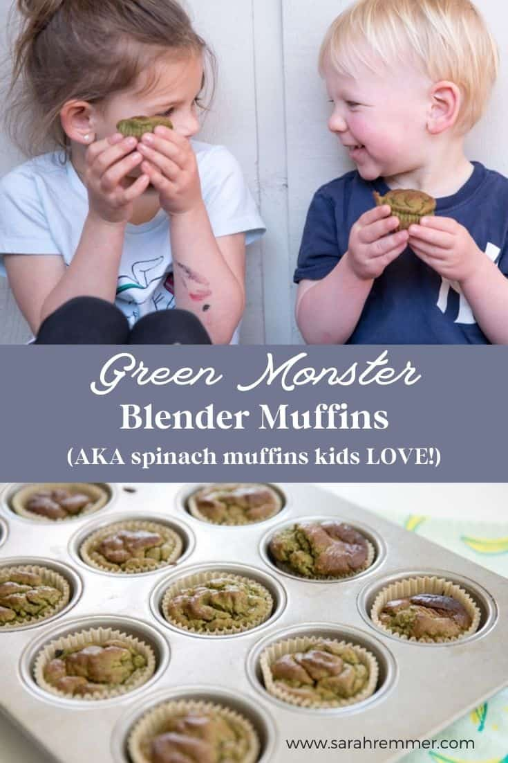 We love muffins – especially ones that you can make in a blender! These green monster blender muffins are packed with spinach for added nutrition.