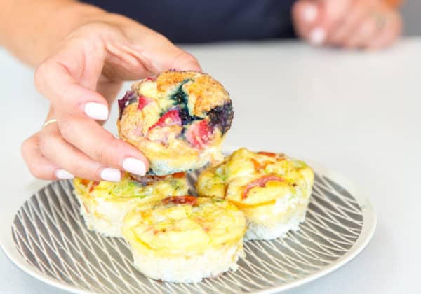 easy egg bites in muffin tin cups