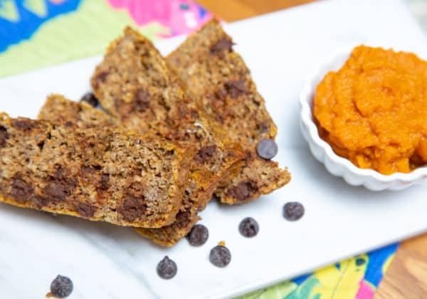 Flourless Banana Pumpkin Loaf (Gluten-Free, Dairy-Free, Vegan)