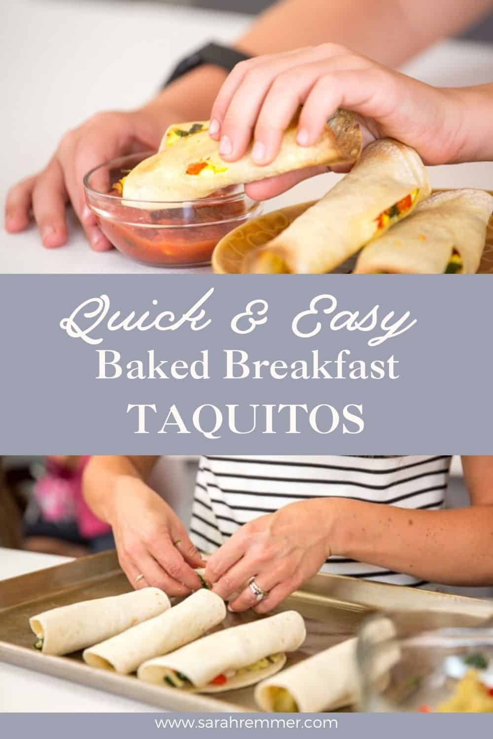These easy breakfast taquitos are delicious, nutritious and freezable! Make a big batch to freeze for busy mornings.