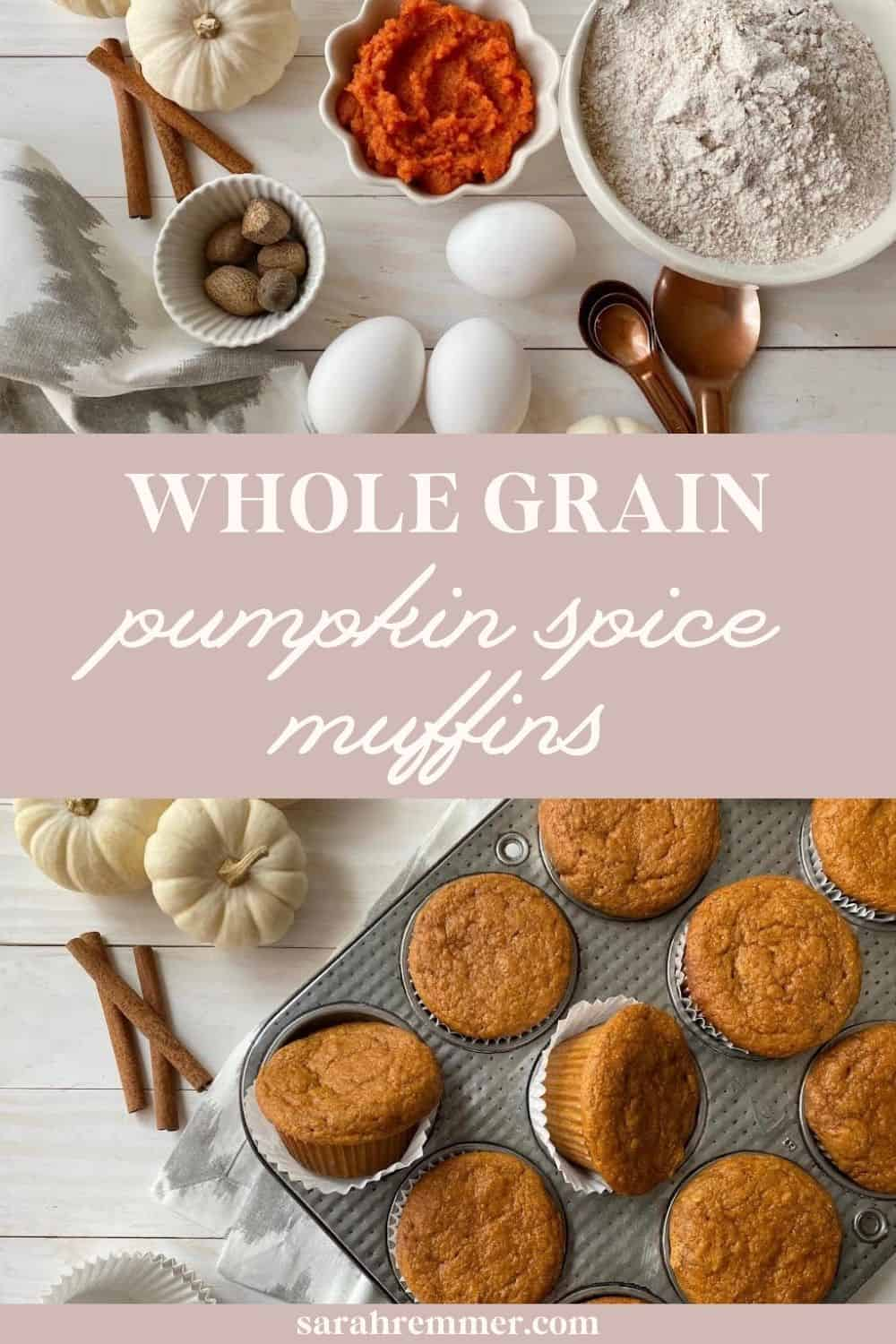 These pumpkin spice muffins are perfect for cozy fall days. They're made with bran cereal which bumps up the fibre content!