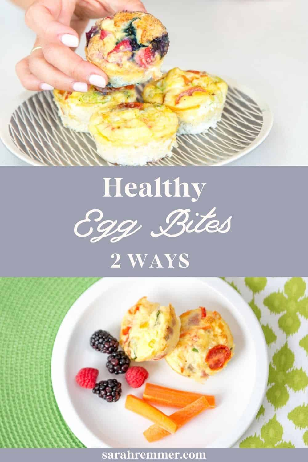 These egg bites in muffin tins make an easy and nutritious protein breakfast, lunch or dinner for the whole family.