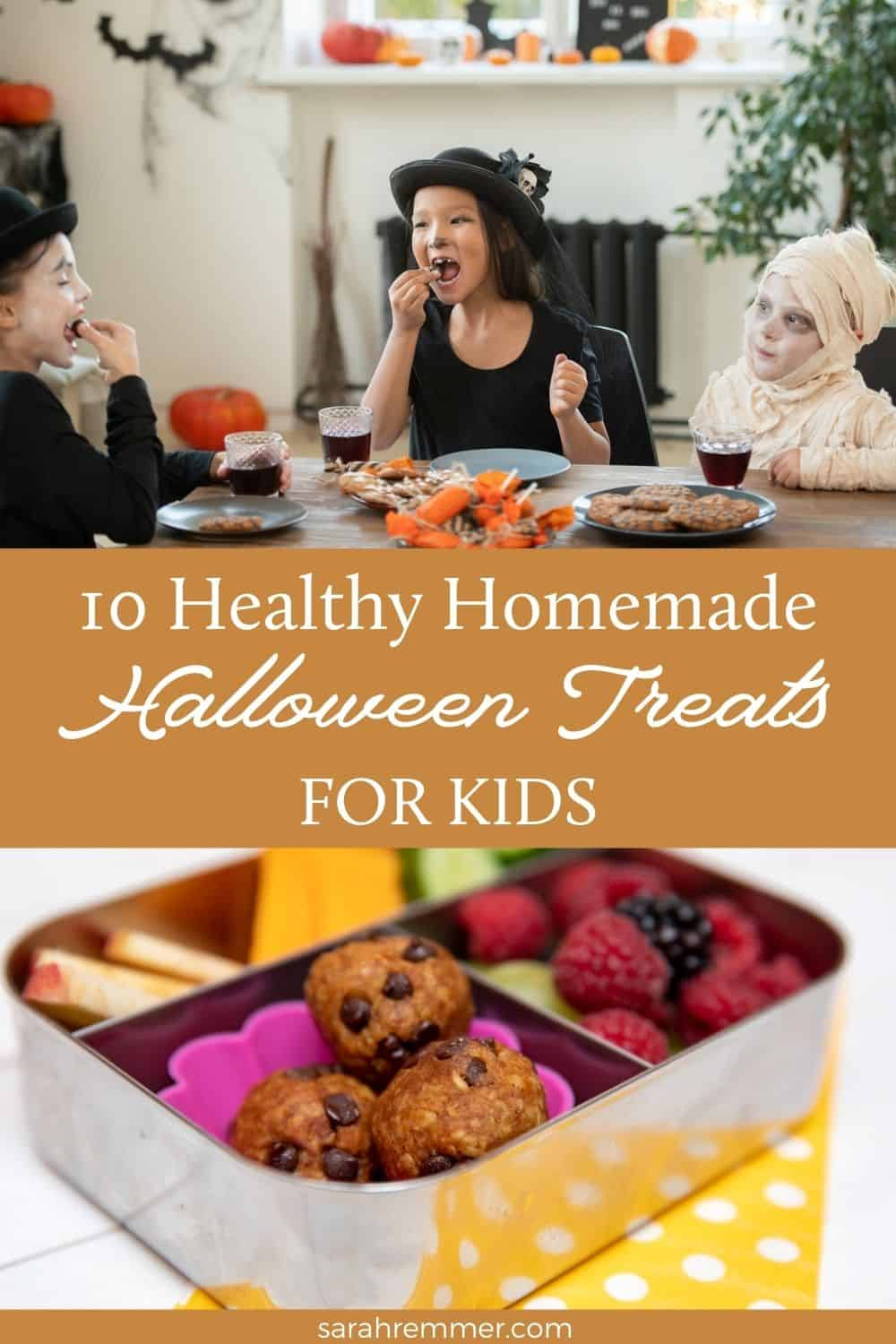 Halloween is just around the corner! Make these healthy homemade Halloween treats with your kids.